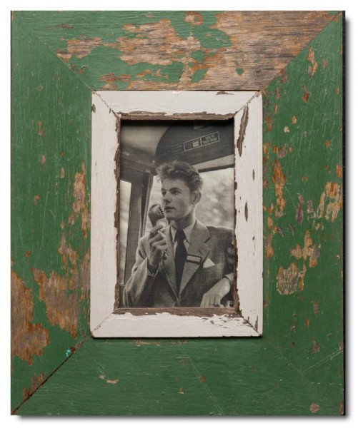 Rustic timber photo frame for picture size 14,8 x 10,5 cm