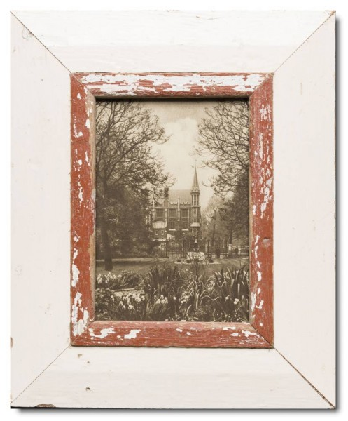 Rustic timber frame for picture format 14,8 x 21 cm
