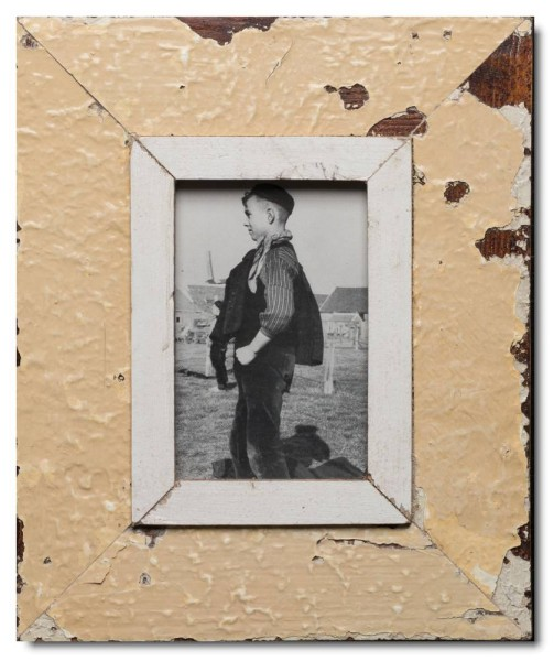 Distressed wooden frame for picture format A6