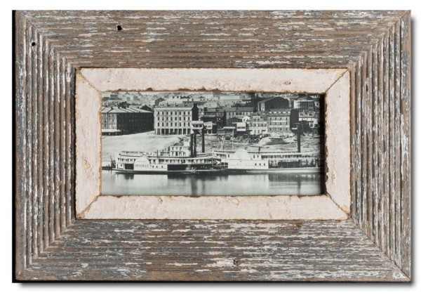 Panoramic rustic timber frame for photo size A5 panoramic