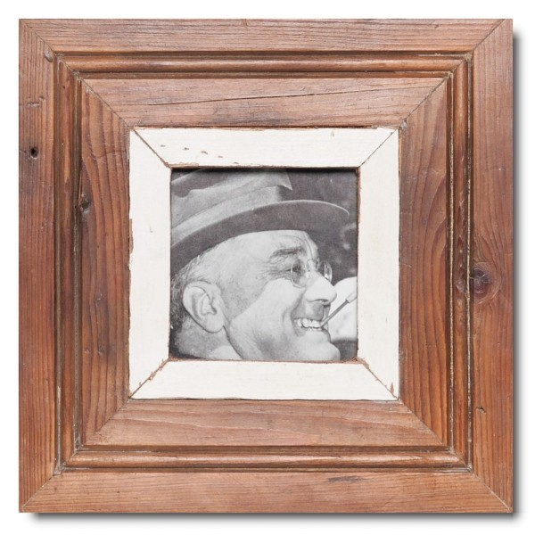 Square rustic timber photo frame for photo size A6 square