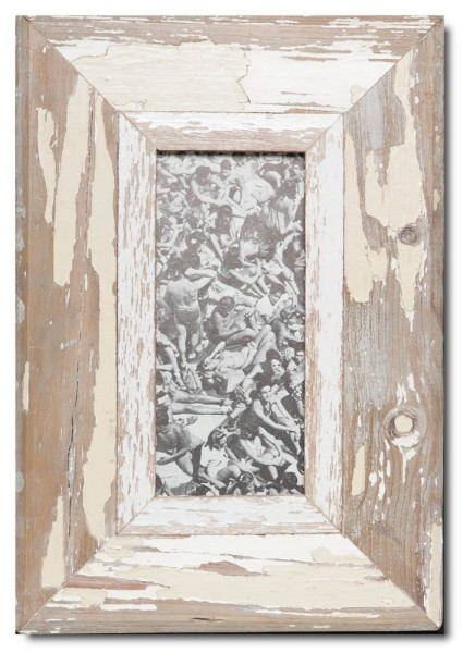 Panoramic distressed wooden picture frame for picture size 2:1