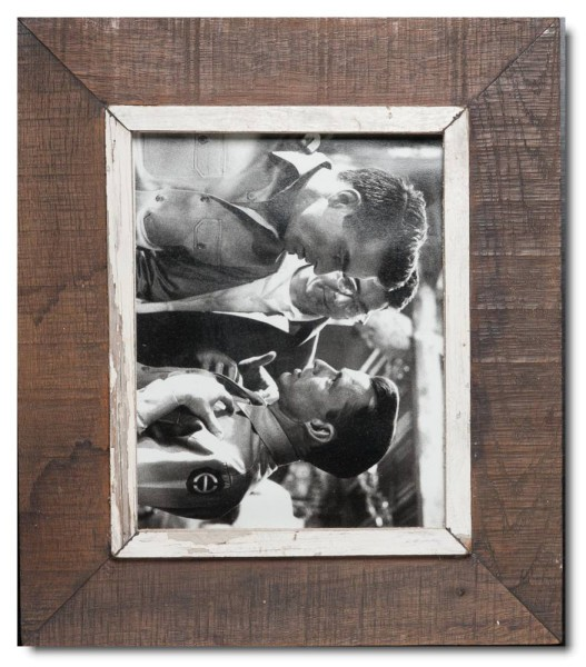 Distressed wooden frame for photo size A5