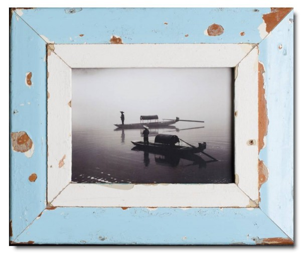 Wide rustic timber picture frame for picture format A4