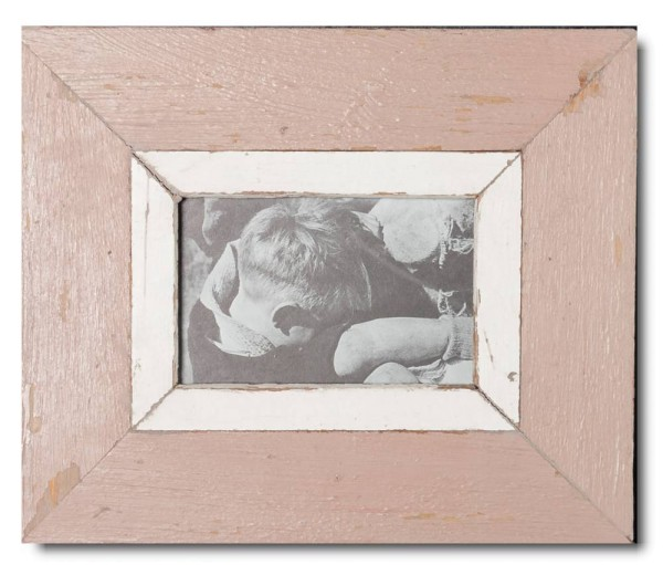 Reclaimed wood photo frame for picture size 14,8 x 10,5 cm