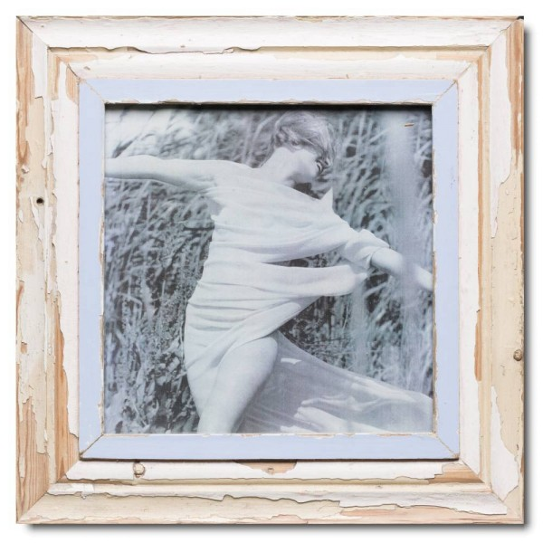 Square reclaimed wood picture frame for picture format 29,7 x 29,7 cm