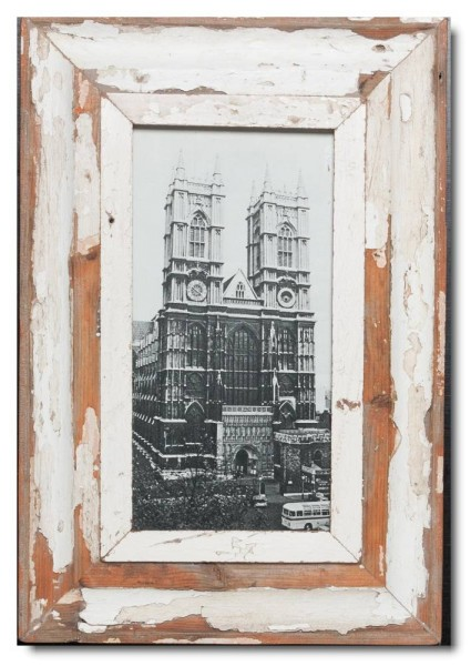 Panoramic Reclaimed wood frame for picture size 29,7 x 14,8 cm