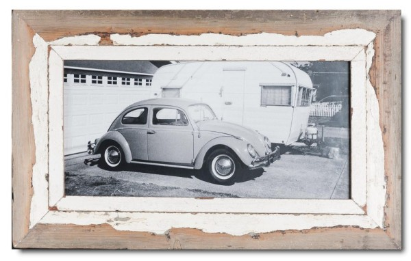 Panoramic distressed wooden frame square for picture size A3 panoramic