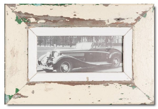 Panoramic reclaimed wood picture frame for photo size A5 panoramic
