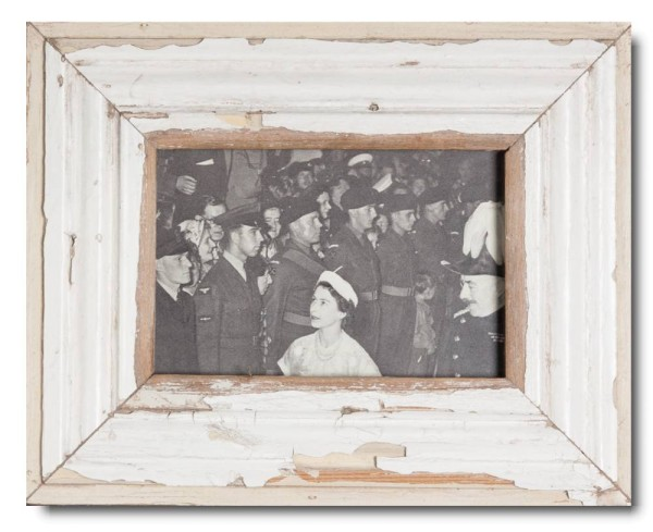 Basic distressed wooden picture frame
