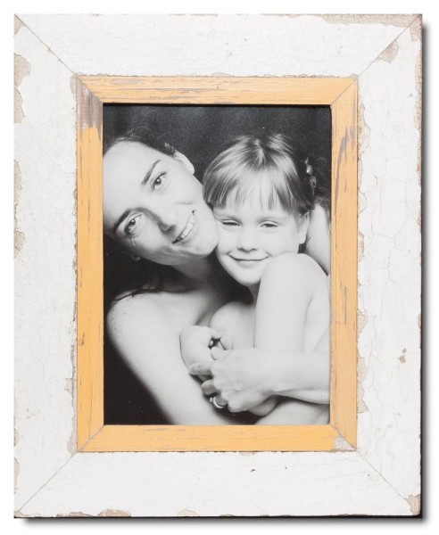 Reclaimed wood picture frame for photo format 29,7 x 21 cm