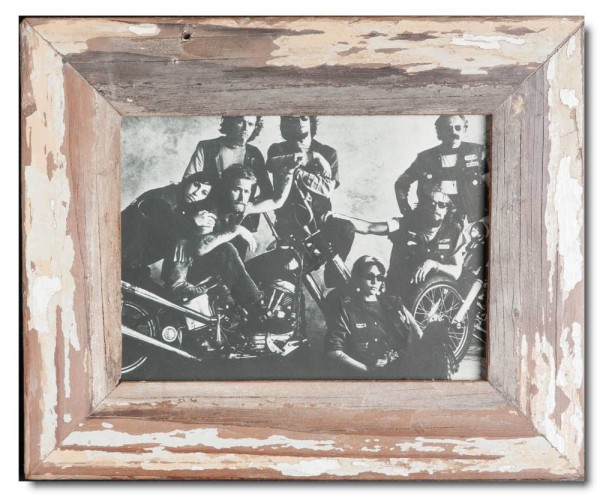 Basic reclaimed wood picture frame for picture format 15 x 20 cm