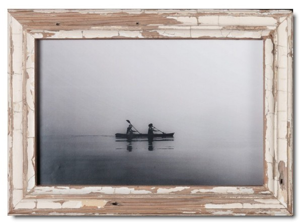 Basic reclaimed wood photo frame for picture format 25 x 38 cm