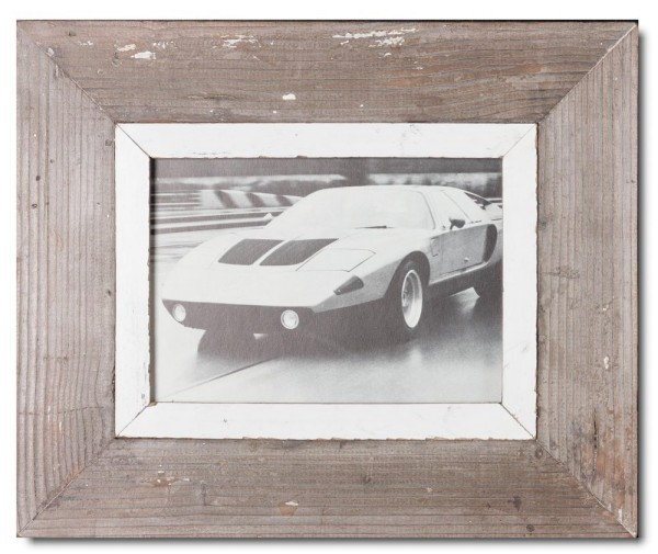 Reclaimed wood frame for photo size A5