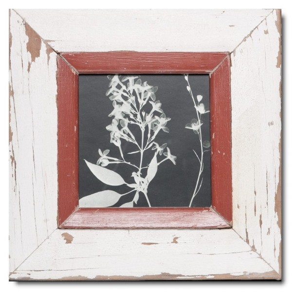 Square rustic timber picture frame for photo size A5 square