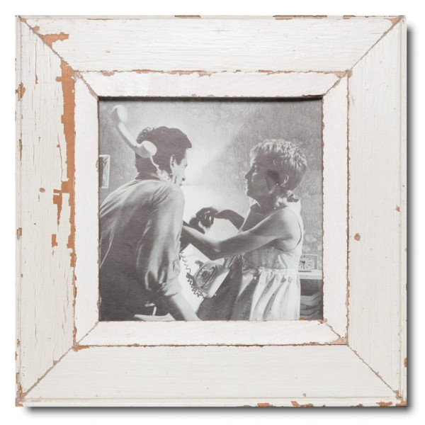 Square Reclaimed wood frame for picture size 21 x 21 cm