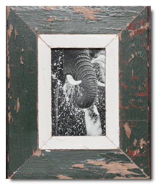 Rustic timber frame for picture format 14,8 x 10,5 cm
