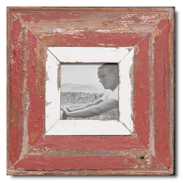 Square Reclaimed wood frame for picture size 10,5 x 10,5 cm