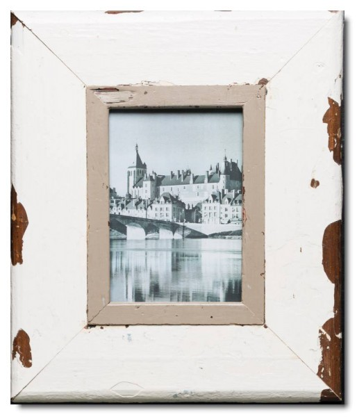 Wide reclaimed wood photo frame for photo format A5