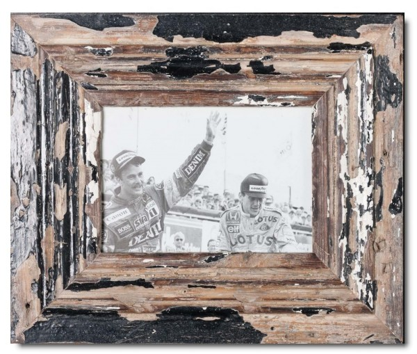 Wide rustic timber picture frame for picture size A5