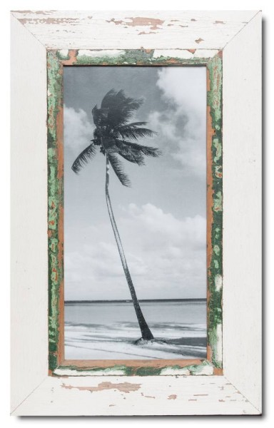 Panoramic reclaimed wood photo frame for picture size A3 panoramic