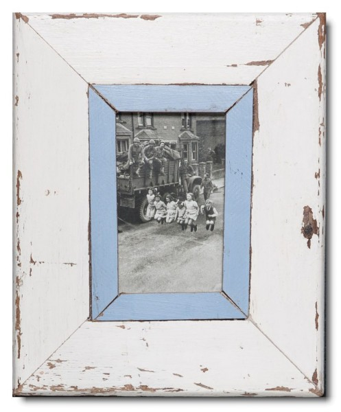 Rustic timber frame for photo size A6