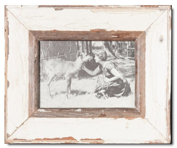 Rustic timber frame for picture size 14,8 x 21 cm