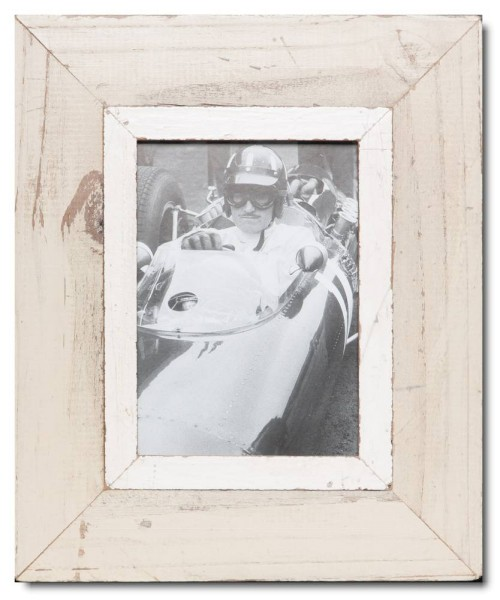 Rustic timber picture frame for picture format A5