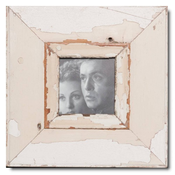 Square reclaimed wood picture frame for photo size 10,5 x 10,5 cm
