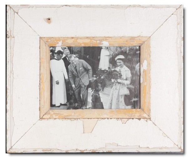 Wide rustic timber frame for picture format 21 x 14,8 cm