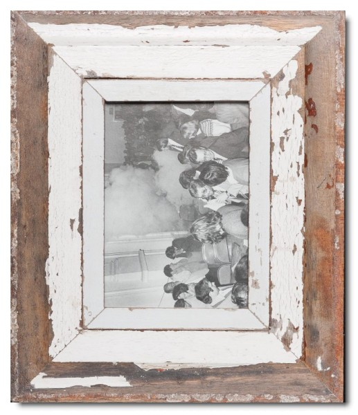 Wide distressed wooden picture frame for picture size A5