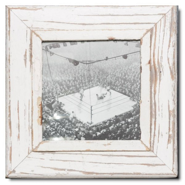Square distressed wooden frame square for picture size A4 square