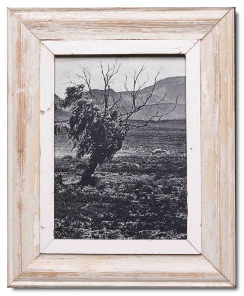 Reclaimed wood picture frame for picture size 29,7 x 21 cm