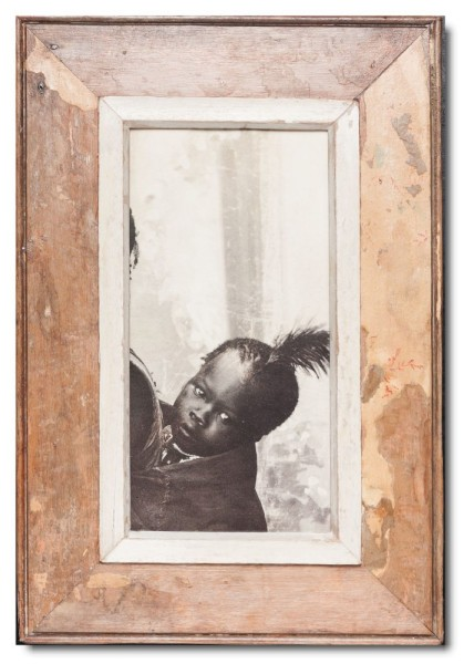 Panoramic Reclaimed wood frame for picture format 29,7 x 14,8 cm