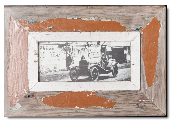 Panoramic rustic timber picture frame for picture size A5 panoramic