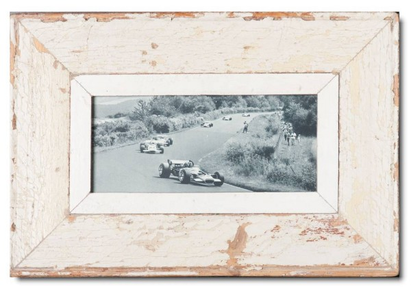 Panoramic distressed wooden frame square for photo format A5 panoramic