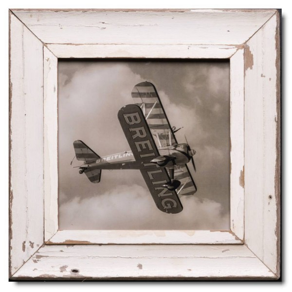 Square rustic timber picture frame for photo size A3 square