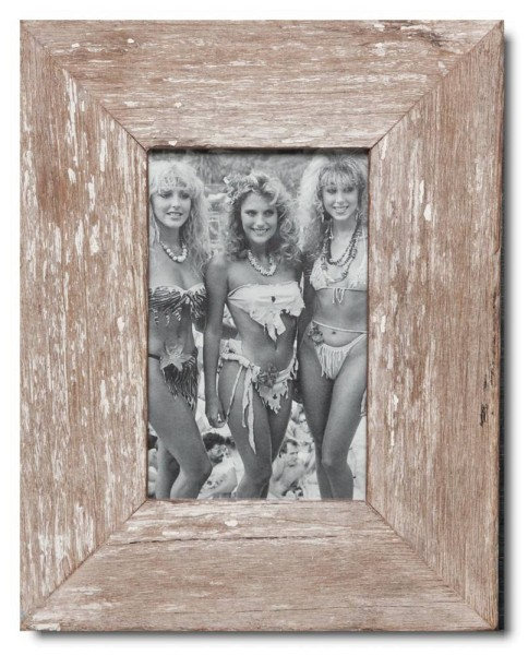 Basic distressed wooden frame square for picture size 10 x 15 cm