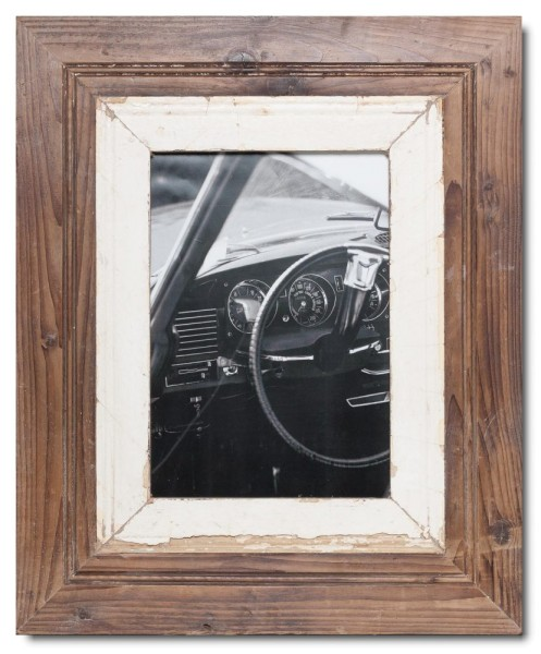 Wide reclaimed wood photo frame