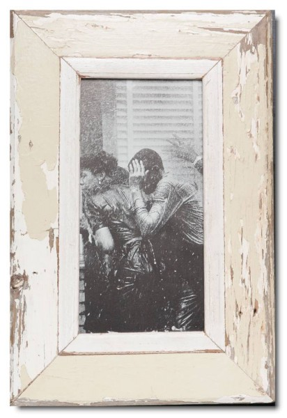 Panoramic distressed wooden frame square for photo size 2:1