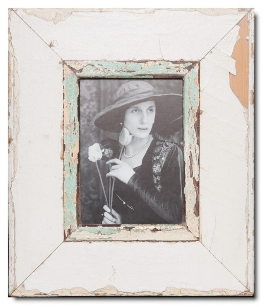 Wide distressed wooden frame square for picture size A5