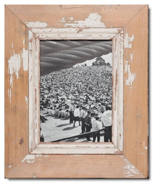 Rustic timber picture frame for photo format A5