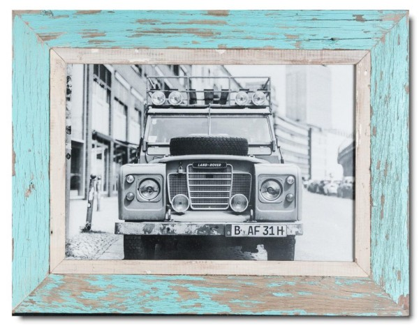 Reclaimed wood frame for picture format A3