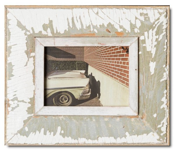 Wide Reclaimed wood frame for photo size A5