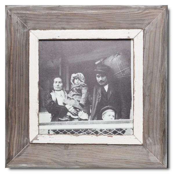 Square rustic timber photo frame for picture size A4 square