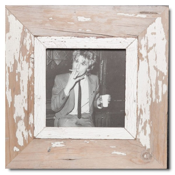 Square Reclaimed wood frame for photo size A5 square