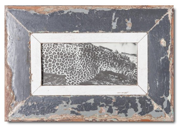 Panoramic distressed wooden picture frame for photo size A5 panoramic