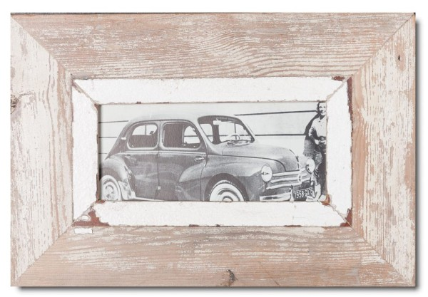 Panoramic rustic timber photo frame for photo size A5 panoramic