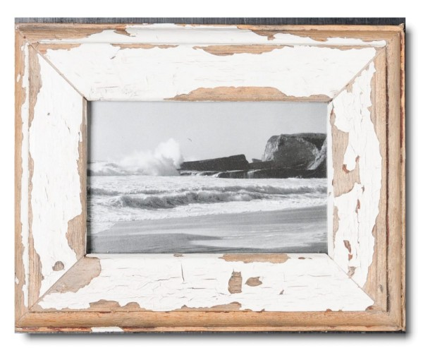 Basic rustic timber picture frame for picture format 10 x 15 cm