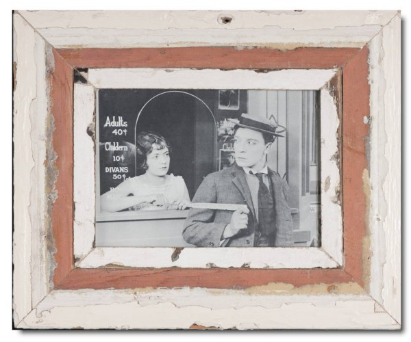 Rustic timber photo frame for photo size 14,8 x 21 cm